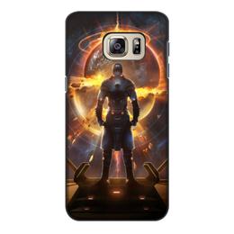 """Чехол для Samsung Galaxy S6, объёмная печать """"Starpoint Gemini Warlords"""" - планета, космос, взрыв, компьютерная игра, starpoint gemini warlords"""