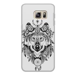 """Чехол для Samsung Galaxy S6, объёмная печать """"Тотем. Волк"""" - графика, волк, тотем"""