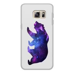 """Чехол для Samsung Galaxy S6, объёмная печать """"Space animals"""" - космос, медведь, астрономия, bear, space"""
