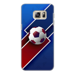 "Чехол для Samsung Galaxy S6, объёмная печать ""Футбол"" - футбол, спорт, мяч, 2018"