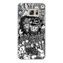 """Чехол для Samsung Galaxy S6, объёмная печать """"Иллюстрация"""" - звезда, люди, баран, ананас, козел"""