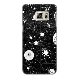 """Чехол для Samsung Galaxy S6, объёмная печать """"Карта звездного неба"""" - звезды, космос, коллаж"""