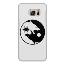 """Чехол для Samsung Galaxy S6, объёмная печать """"Инь и ян"""" - собаки, инь и ян, добро и зло, светлое и тёмное"""
