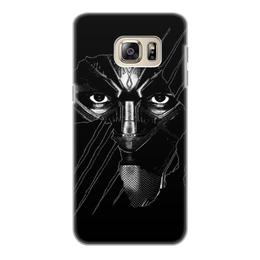 """Чехол для Samsung Galaxy S6, объёмная печать """"Чёрная пантера"""" - marvel, мстители, марвел, черная пантера, black panther"""