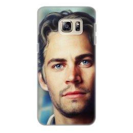 """Чехол для Samsung Galaxy S6, объёмная печать """"Пол Уокер Paul Walker"""" - брайн оконнер, актер, форсаж, пол уокер, paul walker"""