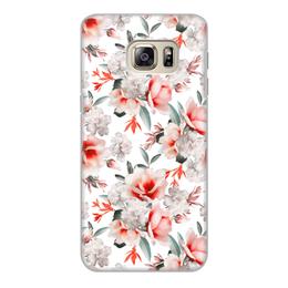 """Чехол для Samsung Galaxy S6, объёмная печать """"Цветы"""" - цветы"""