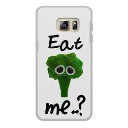 """Чехол для Samsung Galaxy S6, объёмная печать """"Eat me..?"""" - еда, sad, мимими, брокколи, broccoli"""