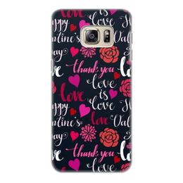 """Чехол для Samsung Galaxy S6, объёмная печать """"День Св. Валентина"""" - день св валентина, валентинка, сердца, любовь"""