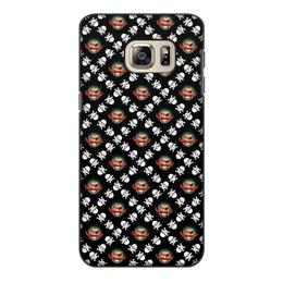 """Чехол для Samsung Galaxy S6, объёмная печать """"Бармалей"""" - череп, пираты, кости, пират, бармалей"""