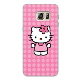 """Чехол для Samsung Galaxy S6, объёмная печать """"Kitty в горошек"""" - мультик, hello kitty, мультфильм, для детей, привет китти"""