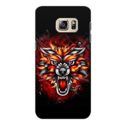 "Чехол для Samsung Galaxy S6, объёмная печать ""Wolf & Fire"" - огонь, волк, fire, дым, wolf"