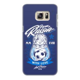 "Чехол для Samsung Galaxy S6, объёмная печать ""Футбол"" - футбол, спорт, матрёшка"