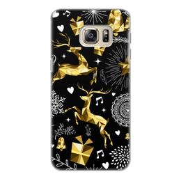 """Чехол для Samsung Galaxy S6, объёмная печать """"Олени"""" - новый год, олени"""