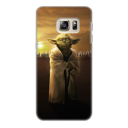 """Чехол для Samsung Galaxy S6, объёмная печать """"Звездные войны - Йода"""" - фантастика, star wars, звездные войны, йода, дарт вейдер"""