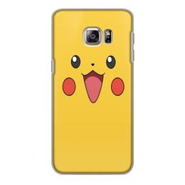 """Чехол для Samsung Galaxy S6, объёмная печать """"Pikachu"""" - для детей, покемон, пикачу, pokemon, pikachu"""