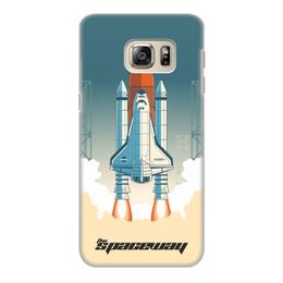"""Чехол для Samsung Galaxy S6, объёмная печать """"Покорение космоса"""" - космос, ракета, астрономия, шатл, thespaceway"""