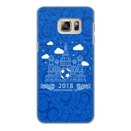 """Чехол для Samsung Galaxy S6, объёмная печать """"Футбол"""" - футбол, спорт, россия, мяч"""
