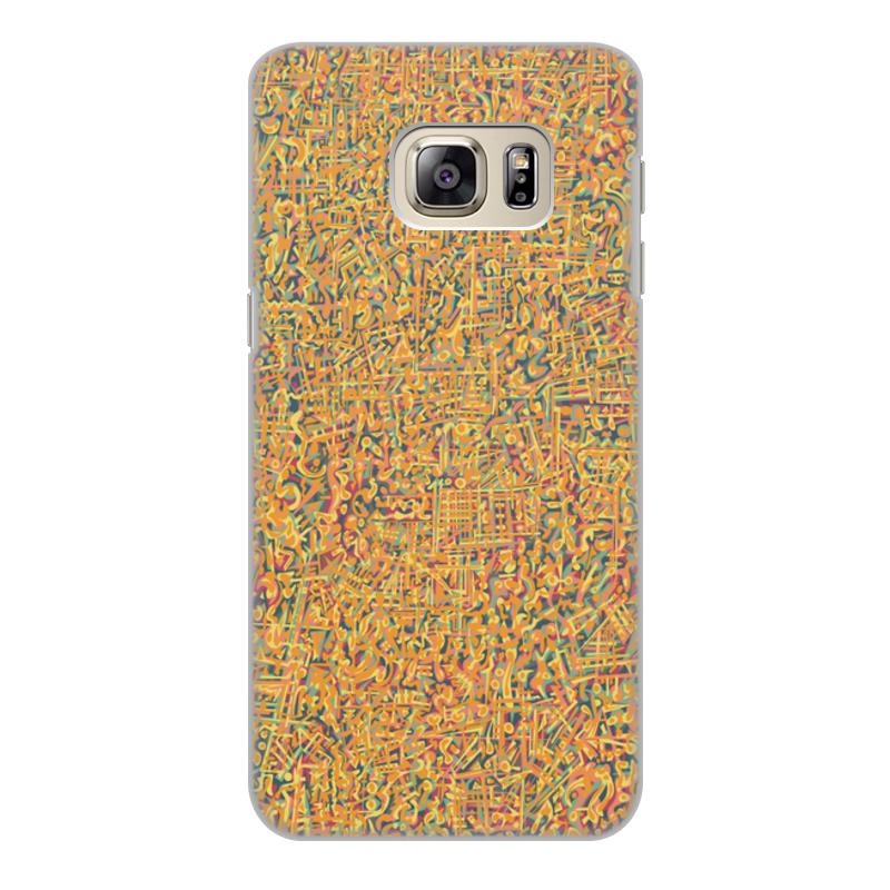 Чехол для Samsung Galaxy S6 Edge, объёмная печать Printio Сандал браун роуз дизайн кожа pu откидная крышка бумажника карты держатель чехол для samsung s6