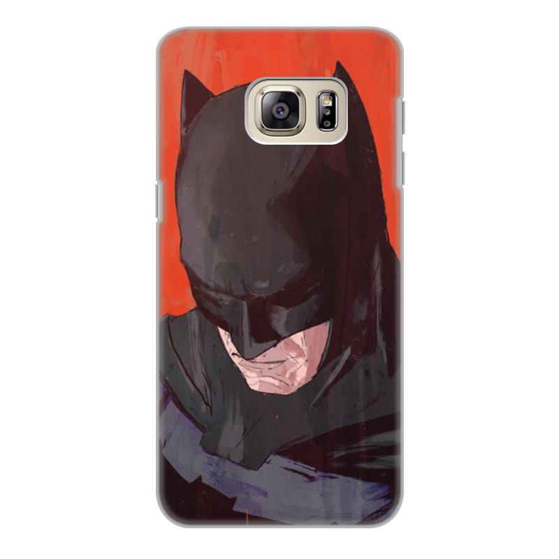 Чехол для Samsung Galaxy S6 Edge, объёмная печать Printio Бэтмен чехол книжка боковой с окошком для samsung galaxy s6 edge boostar черный