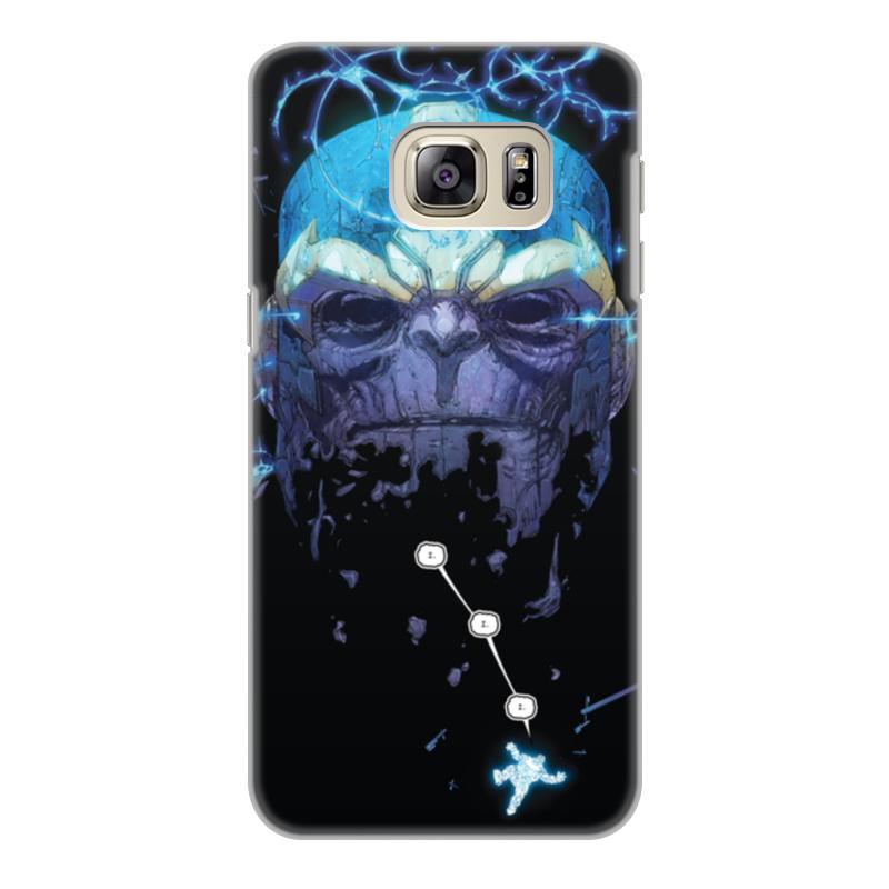Чехол для Samsung Galaxy S6 Edge, объёмная печать Printio Танос