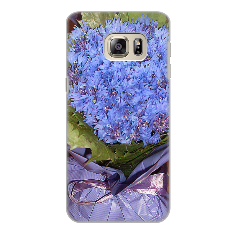 Чехол для Samsung Galaxy S6 Edge, объёмная печать Printio Василек. tpu case cover for samsung s6 edge plus