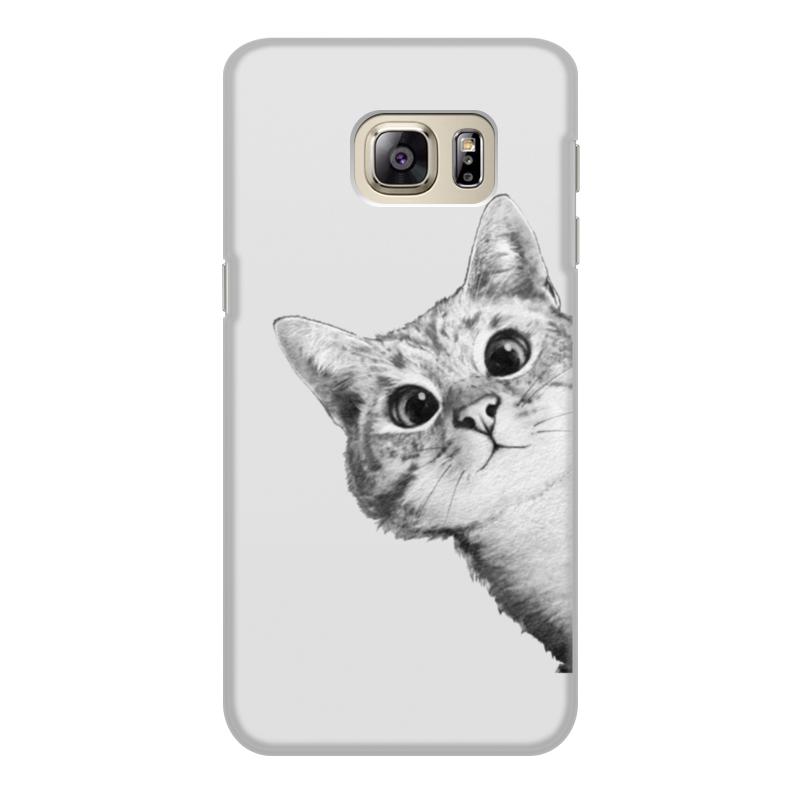 Чехол для Samsung Galaxy S6 Edge, объёмная печать Printio Любопытный кот плакат a2 42x59 printio чак берри
