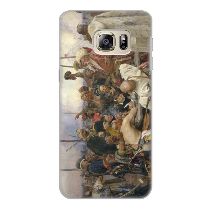 лучшая цена Чехол для Samsung Galaxy S6 Edge, объёмная печать Printio Запорожцы (картина репина)