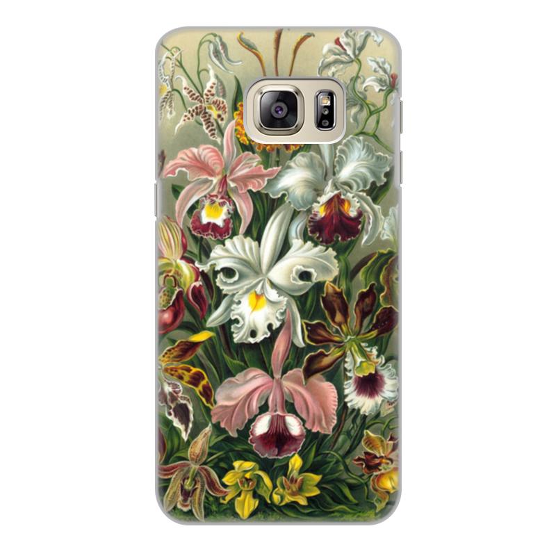 купить Чехол для Samsung Galaxy S6 Edge, объёмная печать Printio Орхидеи (orchideae, ernst haeckel) недорого