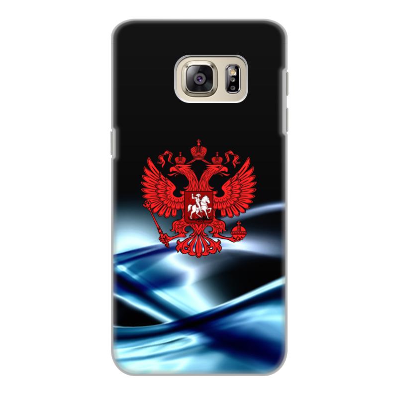Чехол для Samsung Galaxy S6 Edge, объёмная печать Printio Герб россии цена