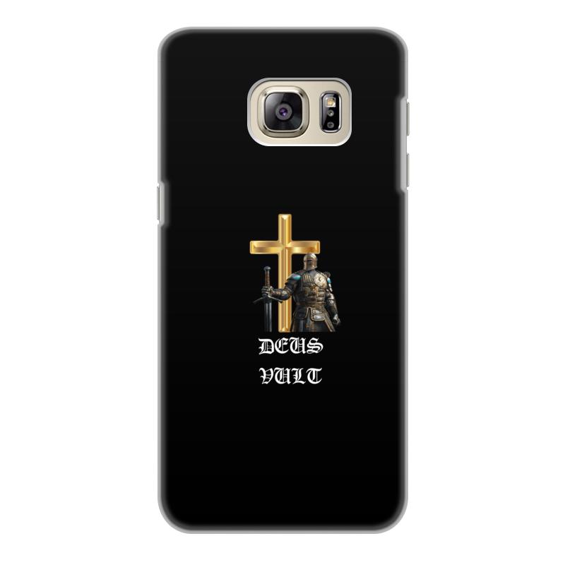 Чехол для Samsung Galaxy S6 Edge, объёмная печать Printio Deus vult. крестоносцы