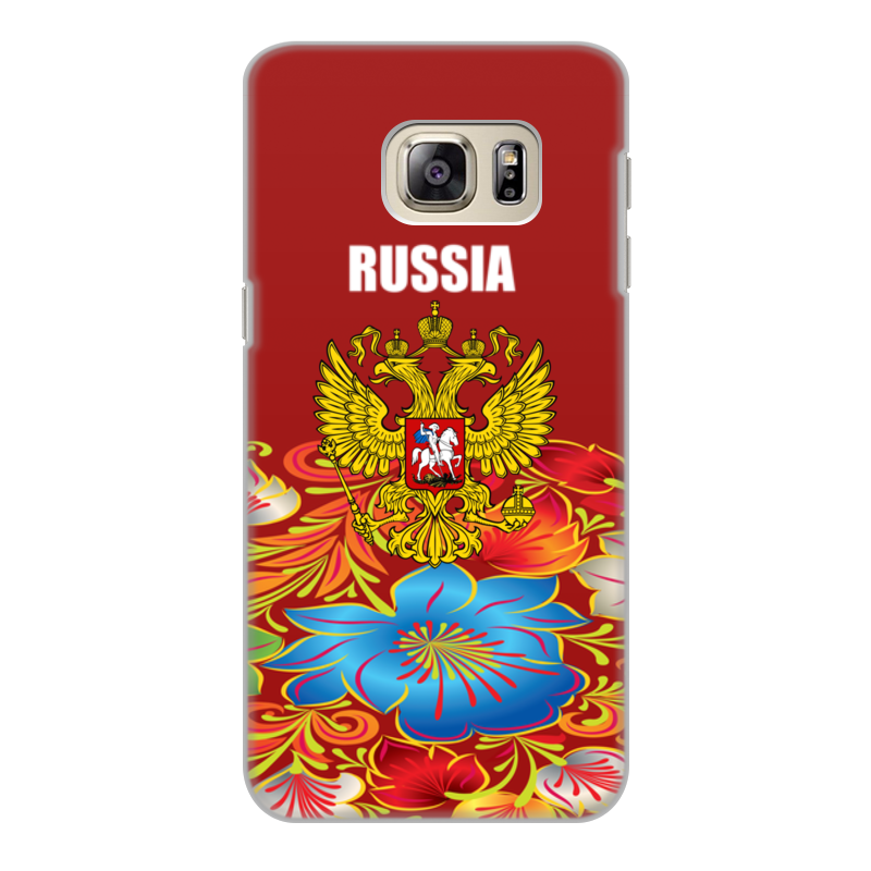 Чехол для Samsung Galaxy S6 Edge, объёмная печать Printio Герб рф cellular line book agenda чехол для samsung galaxy s6 edge black 24065