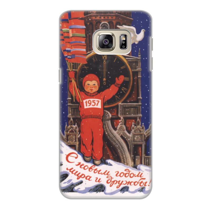 Чехол для Samsung Galaxy S6 Edge, объёмная печать Printio Советский плакат, 1956 г. чехол для samsung galaxy note printio советский плакат 1981 г