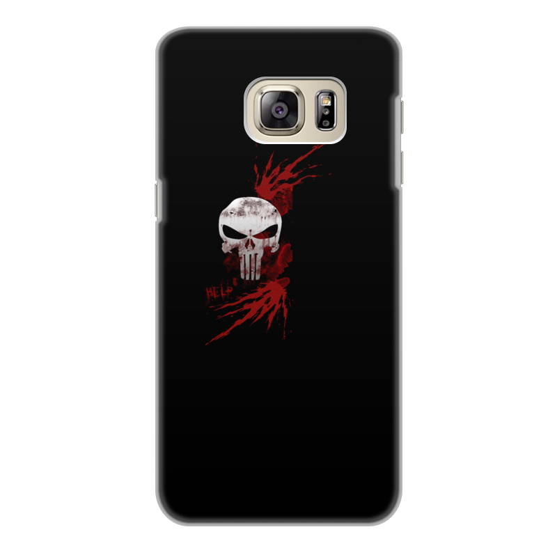 Чехол для Samsung Galaxy S6 Edge, объёмная печать Printio Каратель. punisher флип кейс highscreen для zera s power черный