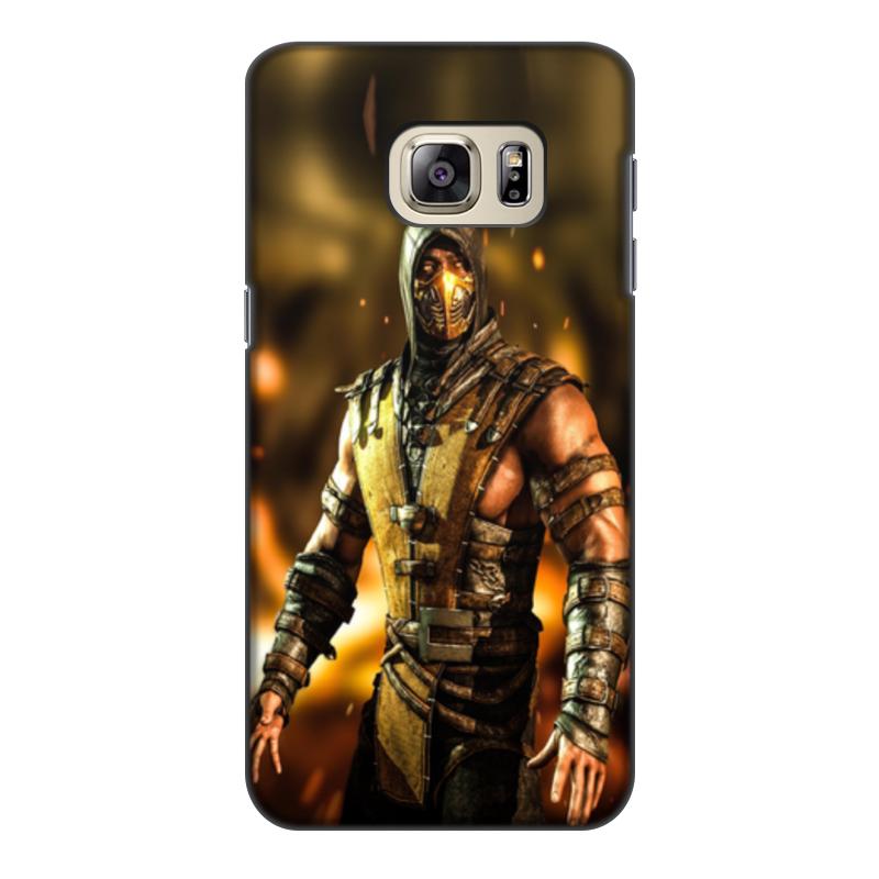 Чехол для Samsung Galaxy S6 Edge, объёмная печать Printio Mortal kombat (scorpion)