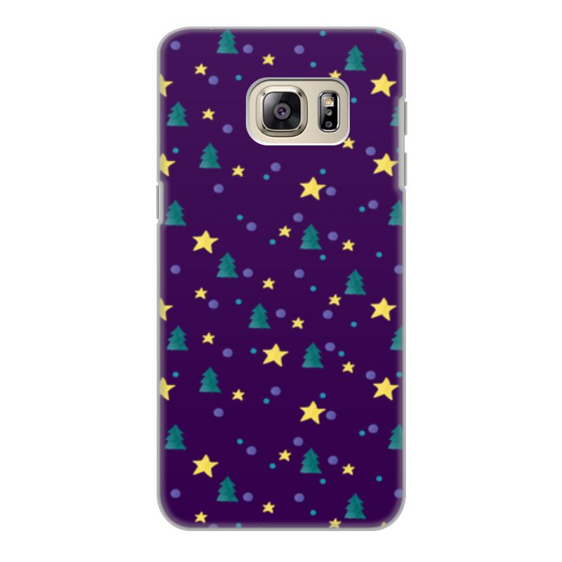 Чехол для Samsung Galaxy S6 Edge, объёмная печать Printio Елки и звезды