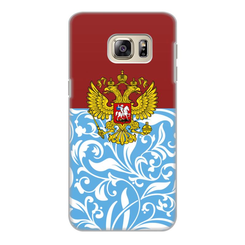 Чехол для Samsung Galaxy S6 Edge, объёмная печать Printio Цветы и герб чехол для samsung galaxy s6 объёмная печать printio зимние забавы