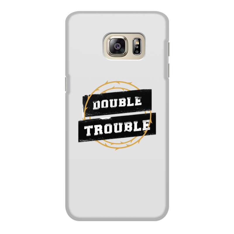 Фото - Чехол для Samsung Galaxy S6 Edge, объёмная печать Printio Double trouble double breasted scallop edge cape coat