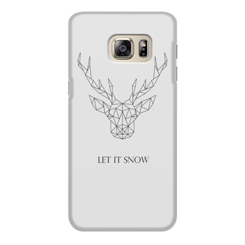 Чехол для Samsung Galaxy S6 Edge, объёмная печать Printio Dear deer браун роуз дизайн кожа pu откидная крышка бумажника карты держатель чехол для samsung s6