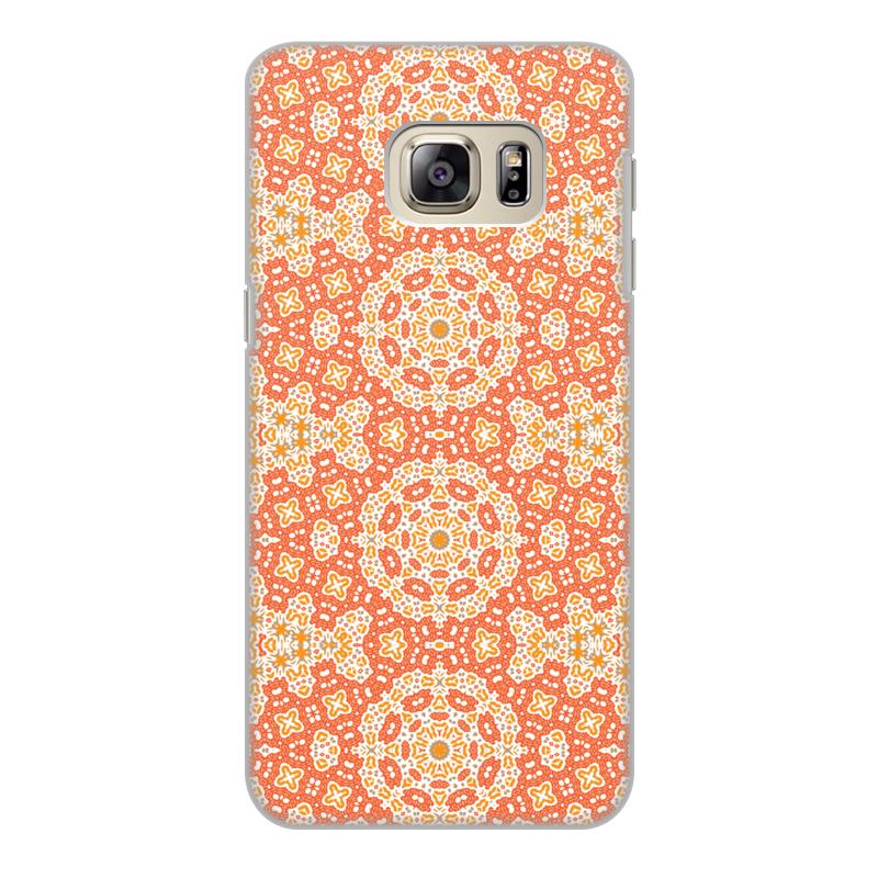 Чехол для Samsung Galaxy S6 Edge, объёмная печать Printio Нежный. браун роуз дизайн кожа pu откидная крышка бумажника карты держатель чехол для samsung s6