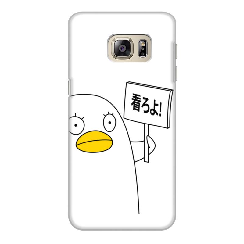 Чехол для Samsung Galaxy S6 Edge, объёмная печать Printio Гинтама. элизабет чехол книжка white diamonds window wallet для samsung galaxy s6 белый