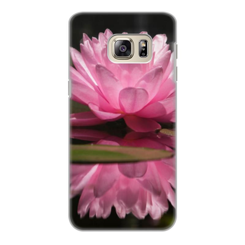 Чехол для Samsung Galaxy S6 Edge, объёмная печать Printio Цветы чехол книжка white diamonds window wallet для samsung galaxy s6 белый