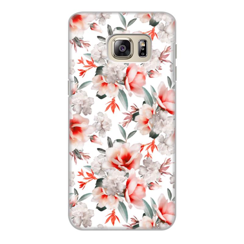 все цены на Чехол для Samsung Galaxy S6 Edge, объёмная печать Printio Цветы онлайн