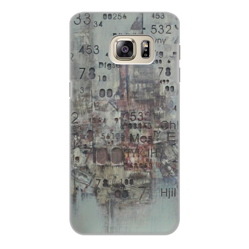 Чехол для Samsung Galaxy S6 Edge, объёмная печать Printio Цифры