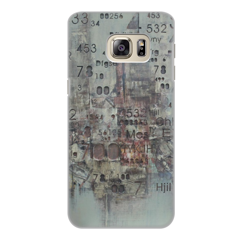 Чехол для Samsung Galaxy S6 Edge, объёмная печать Printio Цифры cellular line book agenda чехол для samsung galaxy s6 edge black 24065