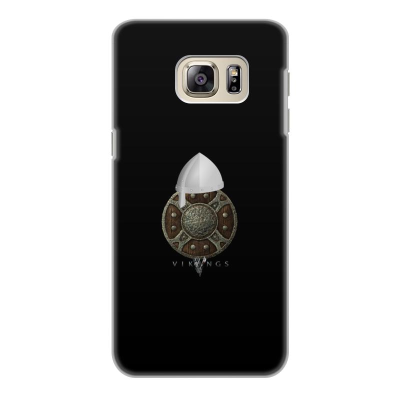 Чехол для Samsung Galaxy S6 Edge, объёмная печать Printio Викинги. vikings bling bling drill textured flower pattern front buckle flip pu leather case for samsung galaxy s6 edge