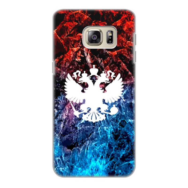 Чехол для Samsung Galaxy S6 Edge, объёмная печать Printio Флаг россии цена