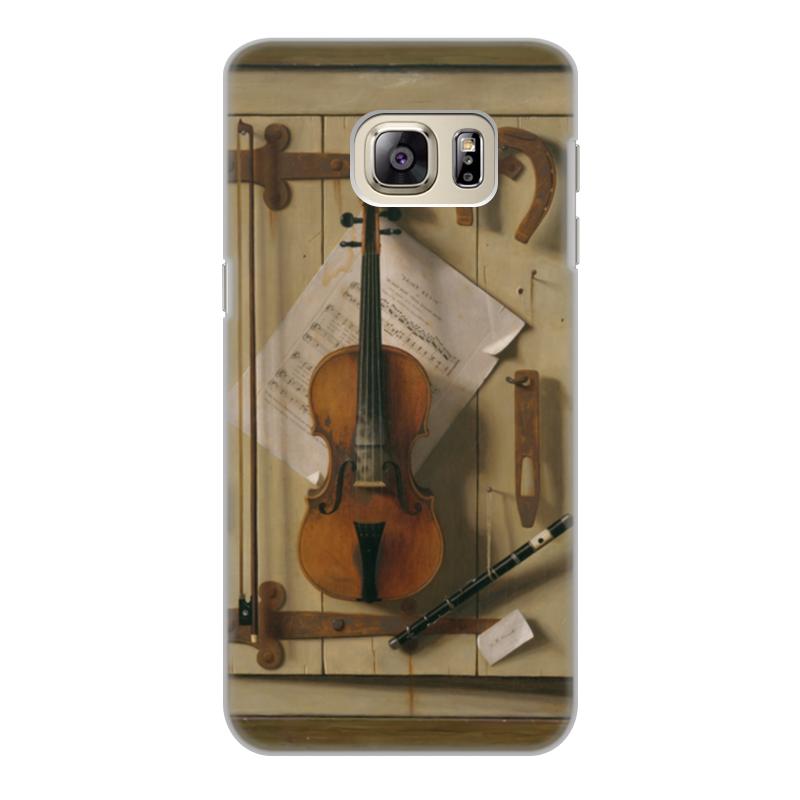 Чехол для Samsung Galaxy S6 Edge, объёмная печать Printio Натюрморт со скрипкой (уильям харнетт)
