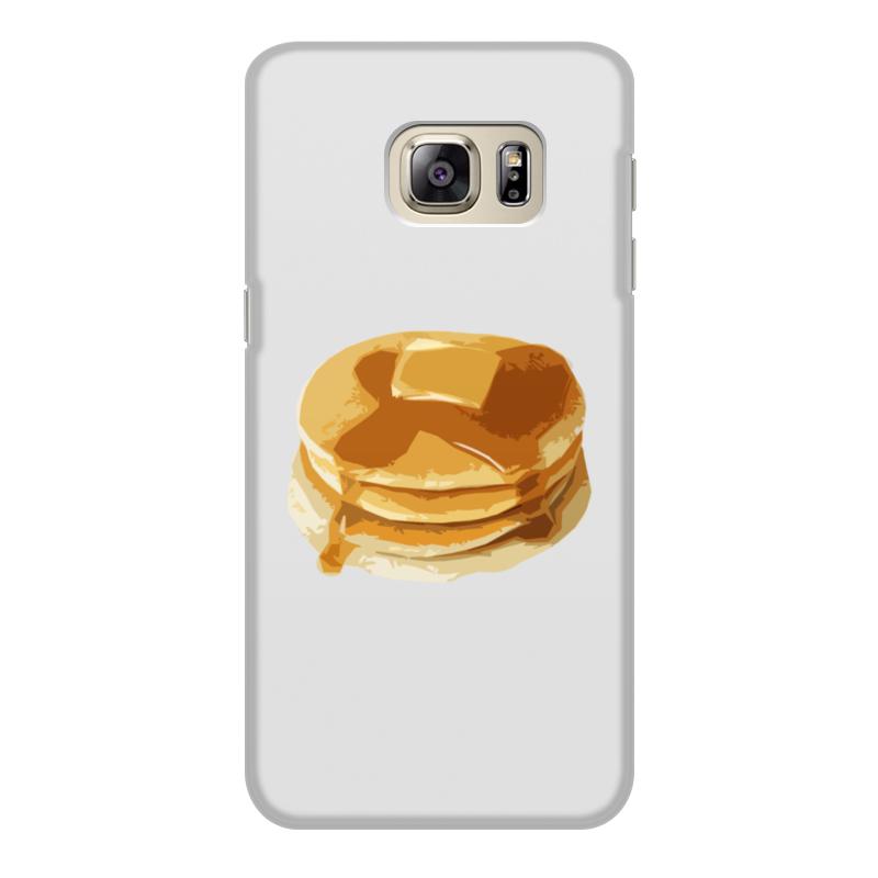 Чехол для Samsung Galaxy S6 Edge, объёмная печать Printio Блины с маслом чехол для samsung galaxy s6 edge объёмная печать printio железный человек