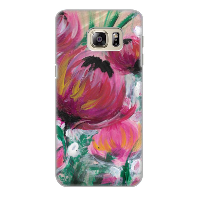 Чехол для Samsung Galaxy S6 Edge, объёмная печать Printio Полевые цветы чехол для samsung galaxy s6 edge объёмная печать printio железный человек