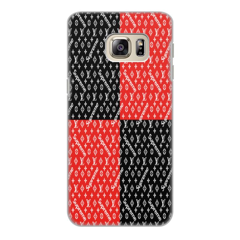 Чехол для Samsung Galaxy S6 Edge, объёмная печать Printio Supreme mooncase s линия мягкий силиконовый гель тпу гибкой оболочки защитный чехол для samsung galaxy s6 edge белый